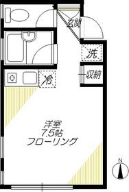 リサレクト大崎2階Fの間取り画像
