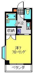 ツカヤマコートB2階Fの間取り画像