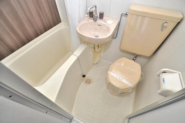 コーポ99 単身さんにちょうどいいサイズのバスルーム。