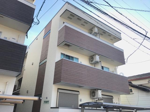 東大阪市高井田西1丁目の賃貸アパートの外観