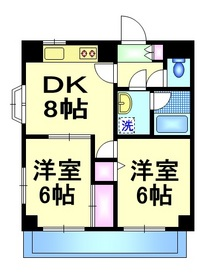 エレガンスタカハシ7階Fの間取り画像