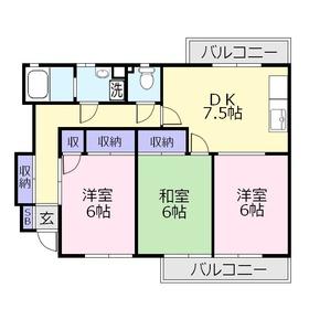 ベルシャトウ2階Fの間取り画像