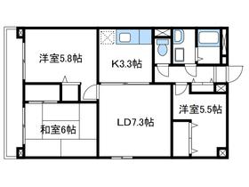 愛甲石田駅 徒歩10分3階Fの間取り画像