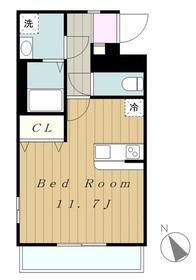 エストデュポン2階Fの間取り画像