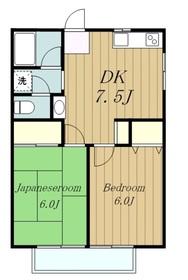 第2ハウスグリーン2階Fの間取り画像