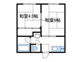 カーサ南台1階Fの間取り画像