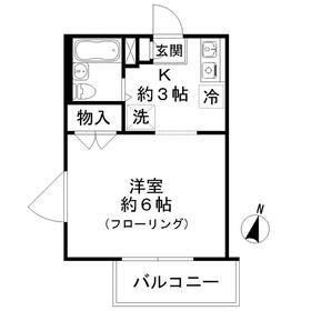 メゾンソレイユ3階Fの間取り画像