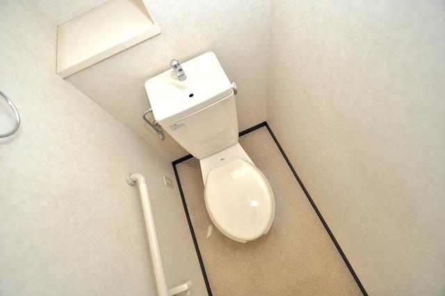 レシェンテオクノ 清潔感たっぷりのトイレです。入るとホッとする、そんな空間。