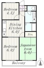 メゾンシエル2階Fの間取り画像