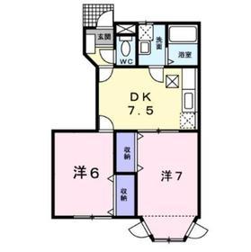 アヴェニール1階Fの間取り画像