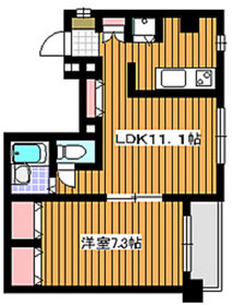 ヴィルヌーヴ赤塚4階Fの間取り画像