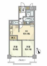 藤和川崎ハイタウン 7階Fの間取り画像