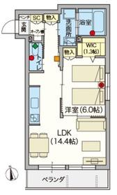 (シニア限定)ヘーベルVillage駒込6丁目2階Fの間取り画像