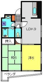 第10Z西村ビル6階Fの間取り画像
