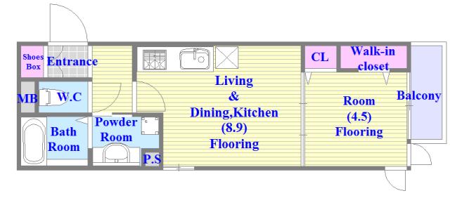 Four Seasons御厨 人気の全室フローリング。収納スペースも充実しています。