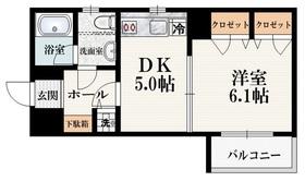 サイレンス神楽坂5階Fの間取り画像