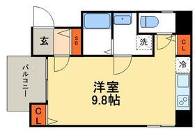 ベルフルール1階Fの間取り画像