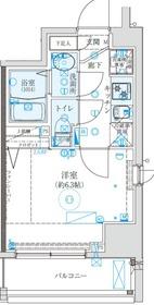 クレイシア西横浜9階Fの間取り画像