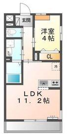 カリーナコート・ミヤマ1階Fの間取り画像