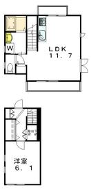 セグーロ三軒茶屋2階Fの間取り画像
