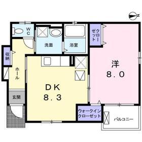 マルハート1階Fの間取り画像