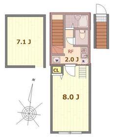 バーミープレイス恋ヶ窪2階Fの間取り画像