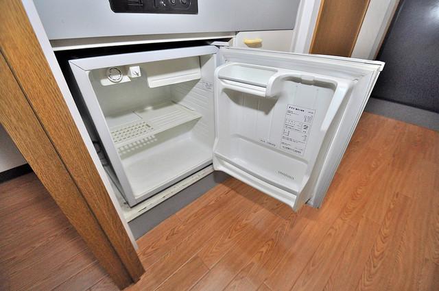 オーナーズマンション菱屋西 嬉しいミニ冷蔵庫付きです。家電代1つ分浮きましたね。