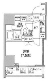 アイルイムーブル日本橋7階Fの間取り画像