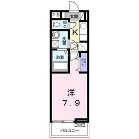 アムールダンジュ1階Fの間取り画像