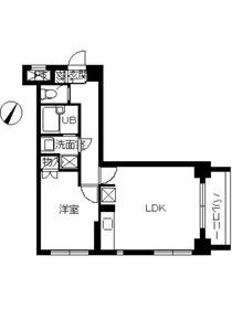 スカイコート日本橋人形町第37階Fの間取り画像