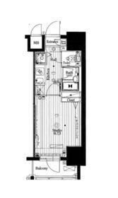 ガーラ・グランディ川崎8階Fの間取り画像
