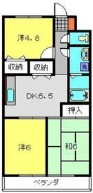 メゾンワタナベⅡ2階Fの間取り画像