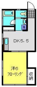 ハイム蘭2階Fの間取り画像