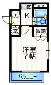 経堂駅 徒歩15分3階Fの間取り画像