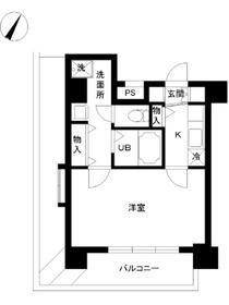 スカイコート神楽坂壱番館12階Fの間取り画像
