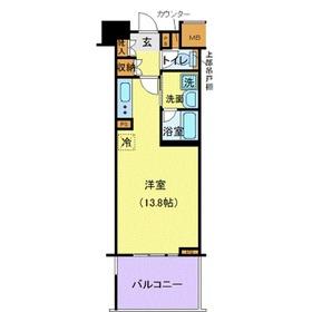 LA.PRYLE新横浜2階Fの間取り画像