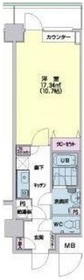 メゾン・ド・ヴィレ日本橋中洲4階Fの間取り画像
