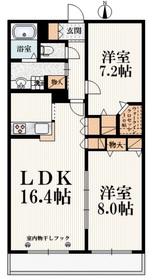 下赤塚駅 徒歩21分1階Fの間取り画像