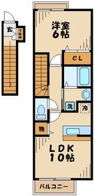 クラールK2階Fの間取り画像