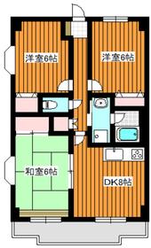 レヴィオン2階Fの間取り画像