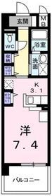 アンジュール 鶴川1階Fの間取り画像