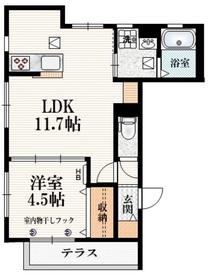 (仮称)柴崎町5丁目Iマンション1階Fの間取り画像