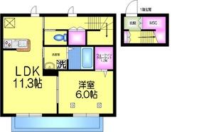 ノブコート2階Fの間取り画像