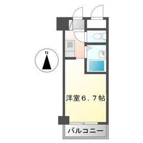 八王子駅 徒歩8分6階Fの間取り画像