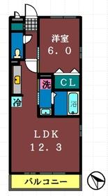クレインコート弐番館3階Fの間取り画像