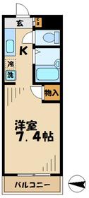 京王永山駅 徒歩36分4階Fの間取り画像