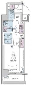リヴシティ横濱インサイトⅡ7階Fの間取り画像