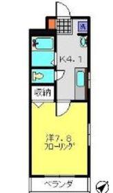 グランドルシェK2階Fの間取り画像