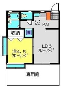 コーポ宮沢21階Fの間取り画像