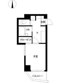 スカイコート高田馬場第65階Fの間取り画像